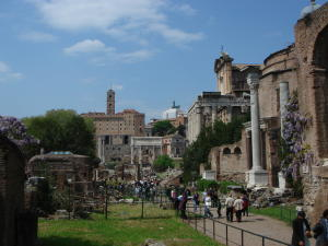 Looking back along the Via Sacra to the Capitolino, Rome, May 2007