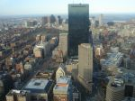 Downtown Boston as viewed from the Prudential Tower, April 2008