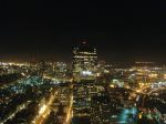 Downtown Boston as viewed from the Prudential Tower at night, April 2008