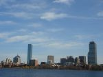View of Boston from bridge by MIT